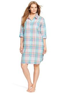 Lauren Ralph Lauren + Garden Party Woven Sleep Shirt Plus Size