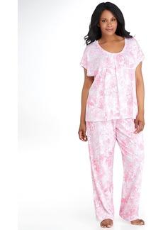 Lauren Ralph Lauren + Nadini Jersey Knit Pajama Set Plus Size