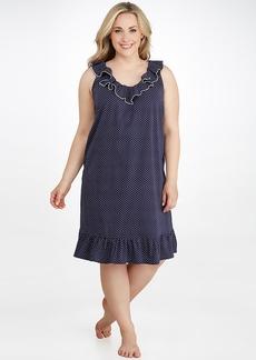 Lauren Ralph Lauren + Ruffle Knit Short Gown Plus Size