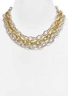"""Lauren Ralph Lauren 3-Row Oval Link Necklace, 17"""""""
