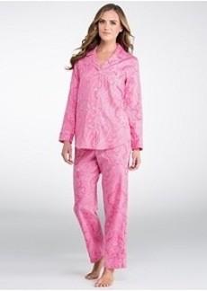 Lauren Ralph Lauren Ascot Lady Sateen Pajama Set