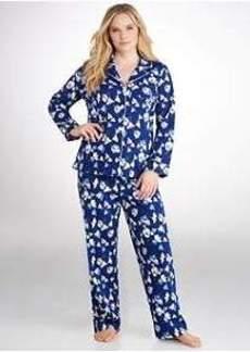 Lauren Ralph Lauren Bingham Knits Pajama Set Plus Size