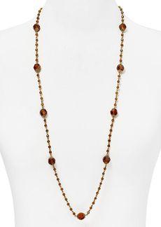 """Lauren Ralph Lauren Faceted Stone Strand Necklace, 36"""""""