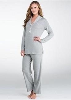 Lauren Ralph Lauren Hartford Lounge Shawl Collar Knit Pajama Set