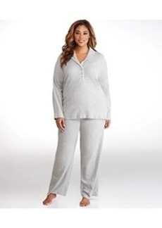 Lauren Ralph Lauren Hartford Lounge Shawl Collar Knit Pajama Set Plus Size