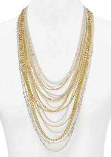 """Lauren Ralph Lauren Multi-Row Chain Necklace, 24"""""""