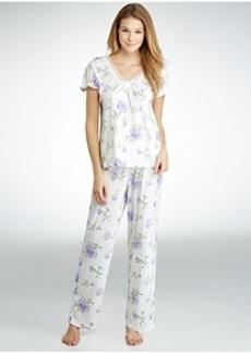 Lauren Ralph Lauren Victorian Rebecca Knit Pajama Set