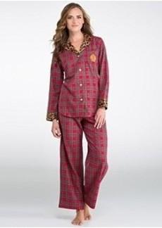 Lauren Ralph Lauren Young Royals Brushed Twill Pajama Set