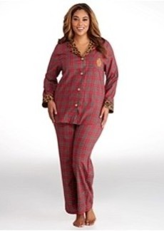 Lauren Ralph Lauren Young Royals Brushed Twill Pajama Set Plus Size