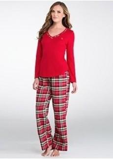 Lauren Ralph Lauren Young Royals Knit and Flannel Pajama Set
