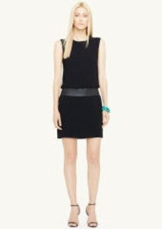 Leather-Trim Tye Dress