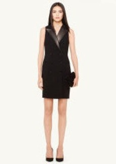 Leather-Trim Warren Dress