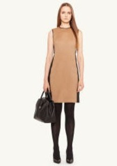 Leather-Trim Winton Dress