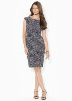 Leopard-Print Boatneck Dress