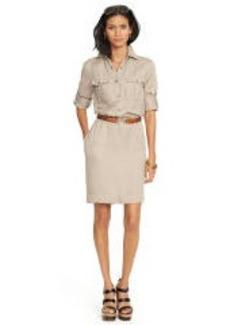 Linen-Blend Shirtdress