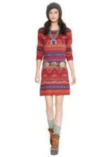 Linen-Blend Sweater Dress