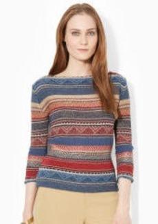 Linen-Cotton Sweater