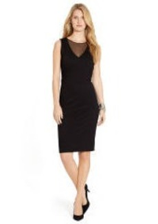 Mesh-Inset Sleeveless Dress