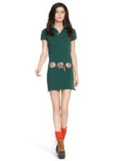 Mesh Polo Mini Shirtdress