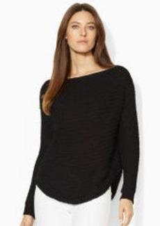 Open-Knit Boatneck Sweater