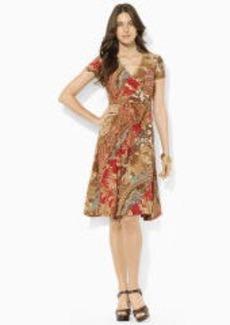 Paisley Surplice Dress