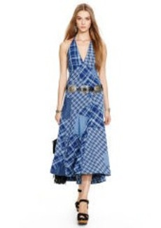 Patchwork Halter Dress