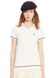 Pima Cotton Mesh Polo Shirt
