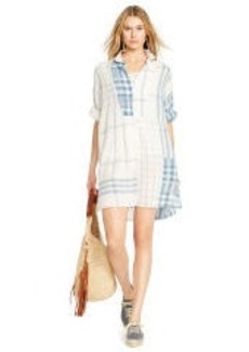 Plaid Linen Patchwork Dress