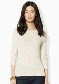 Pointelle-Knit Cotton Sweater