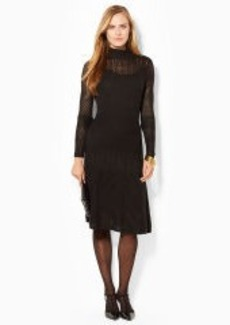 Pointelle-Knit Mockneck Dress
