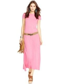 Polo Ralph Lauren Cap-Sleeve Maxi Dress