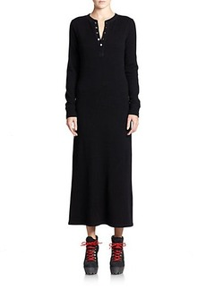 Polo Ralph Lauren Cashmere Henley Maxi Dress