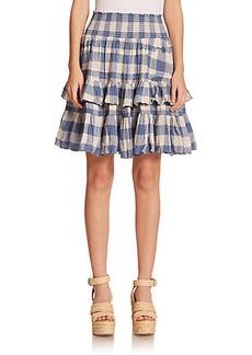 Polo Ralph Lauren Crinkled Ruffled Skirt