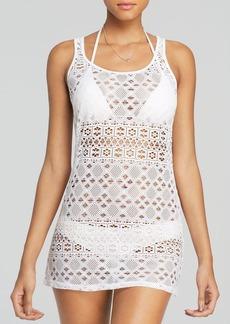 Polo Ralph Lauren Crochet Tank Dress Swim Cover Up