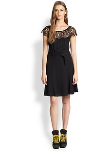 Polo Ralph Lauren Eyelash-Trim Dress