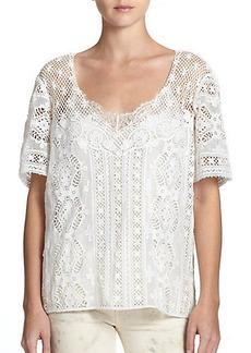 Polo Ralph Lauren Floral Lace V-Neck Top