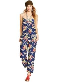 Polo Ralph Lauren Floral-Print V-Neck Jumpsuit