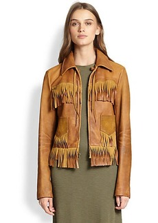 Polo Ralph Lauren Fringed Leather Jacket