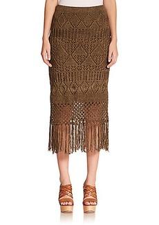 Polo Ralph Lauren Fringed Linen Skirt