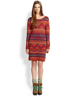 Polo Ralph Lauren Geo-Pattern Knit Dress