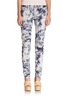 Polo Ralph Lauren Indigo Floral-Print Skinny Jeans