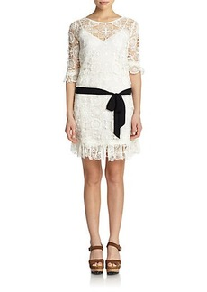 Polo Ralph Lauren Lace Belted Dress