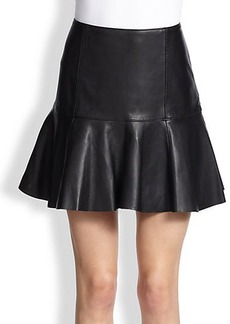 Polo Ralph Lauren Leather Flared Skirt