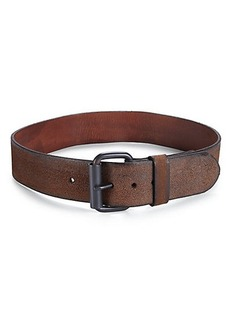 Polo Ralph Lauren Leather Oversized-Buckle Belt
