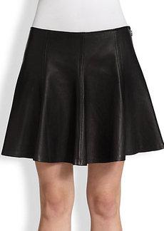 Polo Ralph Lauren Leather Skater Skirt