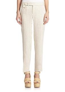 Polo Ralph Lauren Linen Pinstriped Pants
