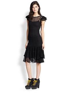 Polo Ralph Lauren Metallic Pointelle-Knit Dress