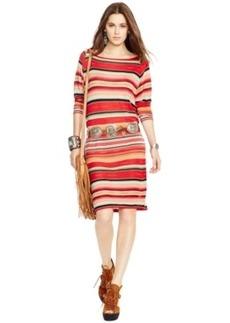 Polo Ralph Lauren Multi-Stripe Three-Quarter-Sleeve Dress