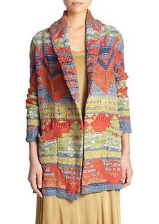 Polo Ralph Lauren Patterned Long Open-Front Cardigan