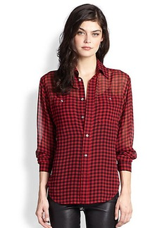 Polo Ralph Lauren Silk Buffalo Plaid Shirt
